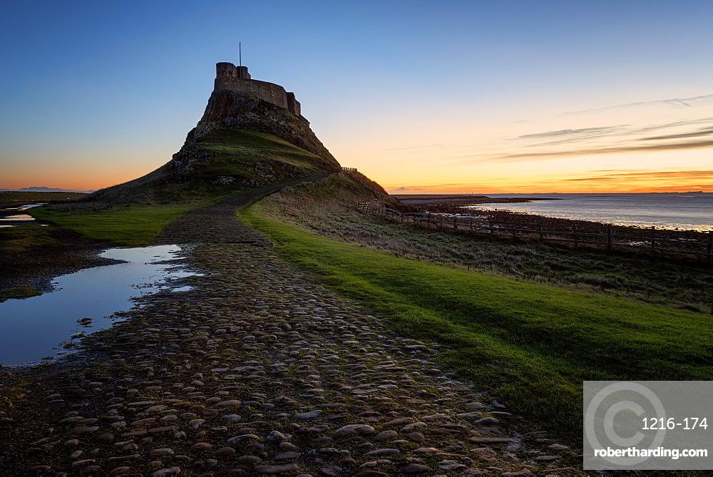 Lindisfarne Castle at Dawn, England, UK