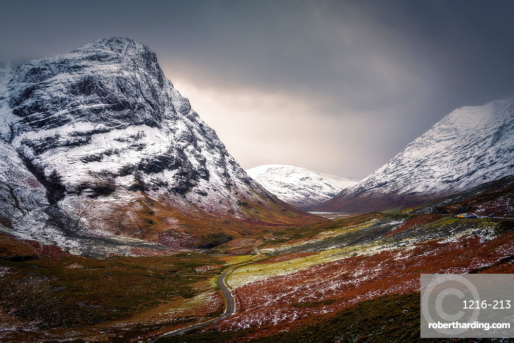 Glencoe in winter, Highland Region, Scotland, United Kingdom, Europe