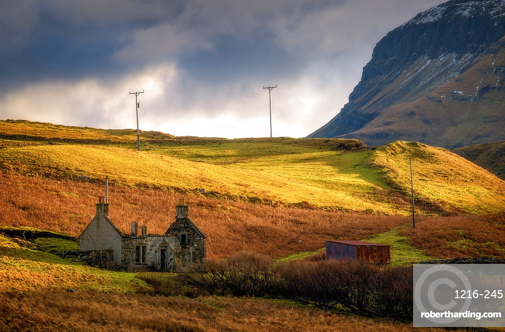Old Cottage without roof, Isle of Skye, Inner Hebrides, Scotland, United Kingdom, Europe