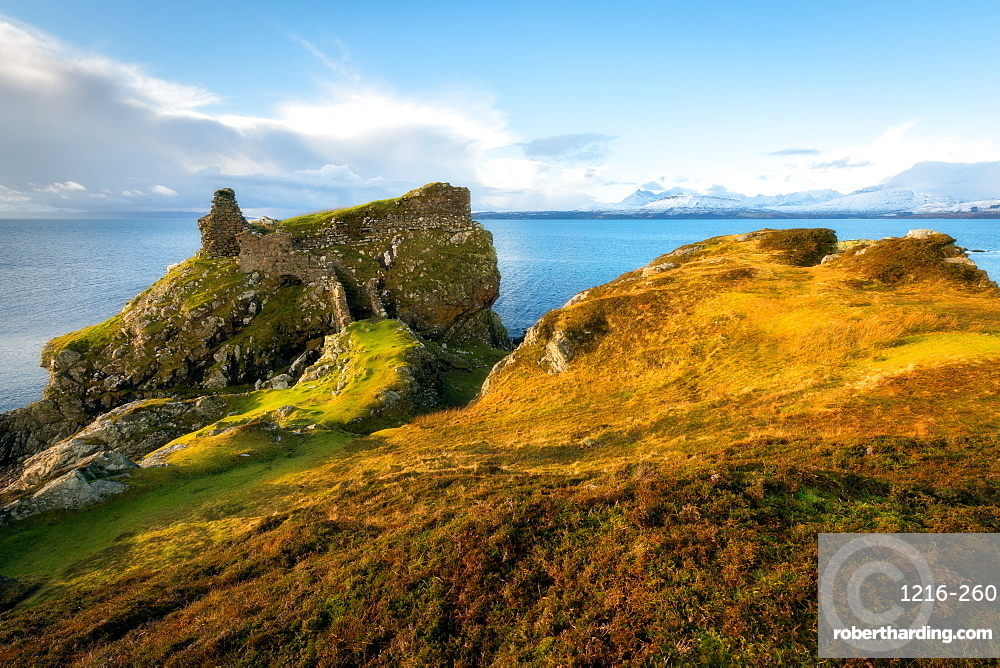 Dunscaith Castle, Isle of Skye, Scotland, UK