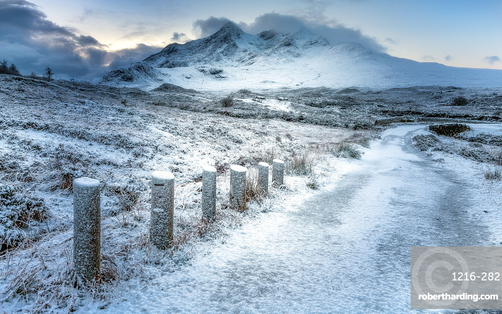 Sligachan in the snow, Isle of Skye, Scotland, UK