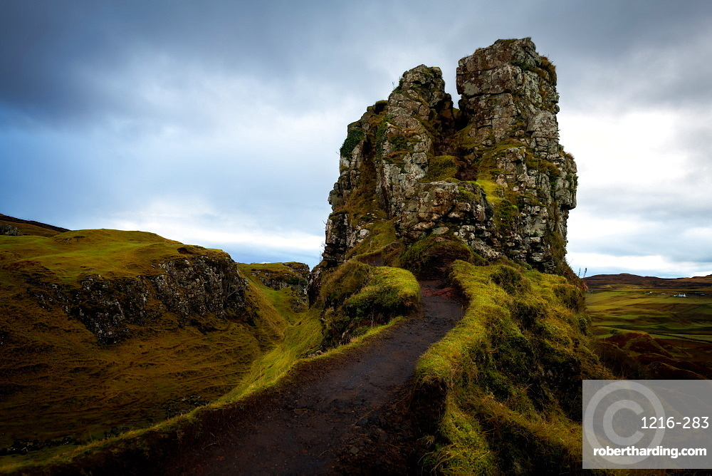 The Castle, Fairy Glen, Isle of Skye, Inner Hebrides, Scotland, United Kingdom, Europe