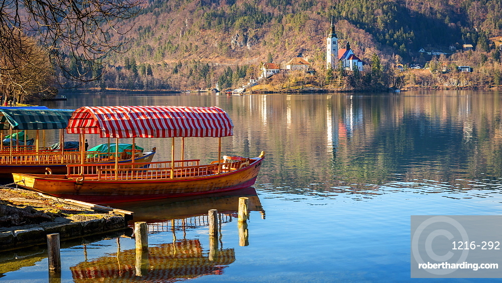 Lake Bled boats, Slovenia, Europe