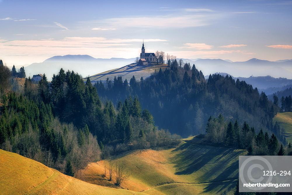 The Church of St. Leonard, Slovenia, Europe