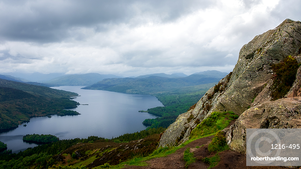 Loch Katrine from the Summit of Ben A'an, Highands, Scotland, United Kingdom