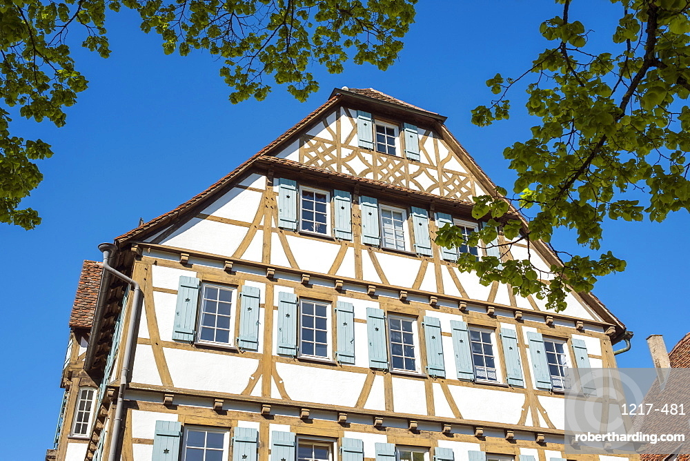 Historic half-timber building in the monastery village, Maulbronn, Baden-Wurttemberg, Germany, Europe