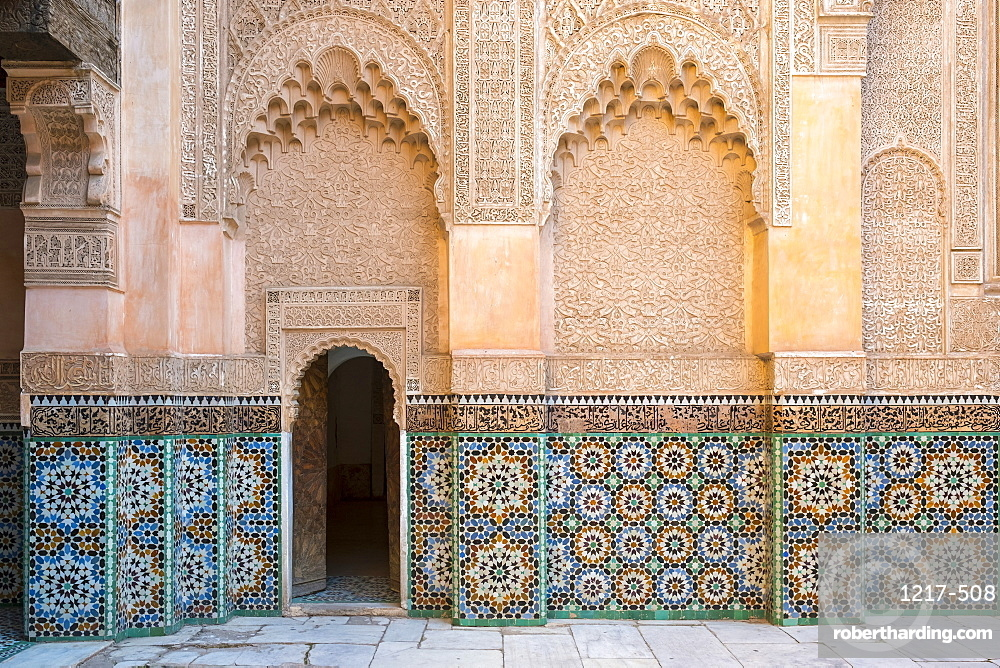 Ben Youssef Madrasa, 16th century Islamic College, UNESCO World Heritage Site, Marrakesh, Morocco, North Africa, Africa