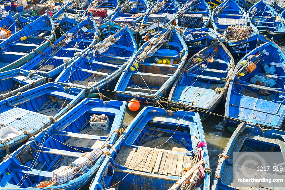 Boats in the fishing port, Essaouira, Marrakesh-Safi region, Morocco, North Africa, Africa