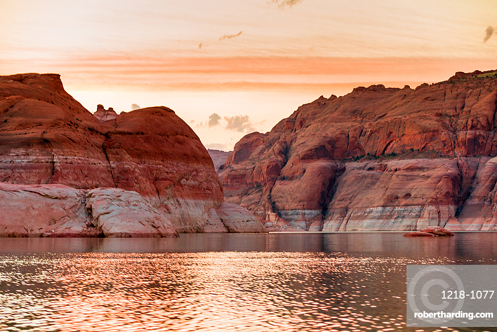 Sunset over Lake Powell, Arizona, United States of America, North America