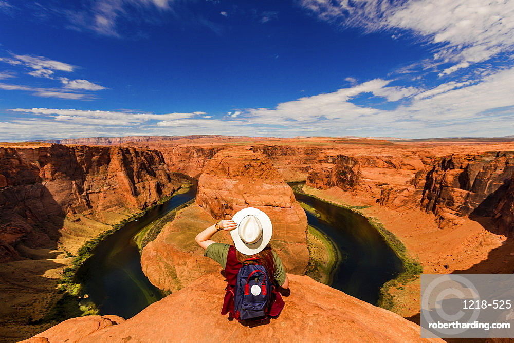 Horseshoe Bend in the Colorado River, Page, Arizona, United States of America, North America