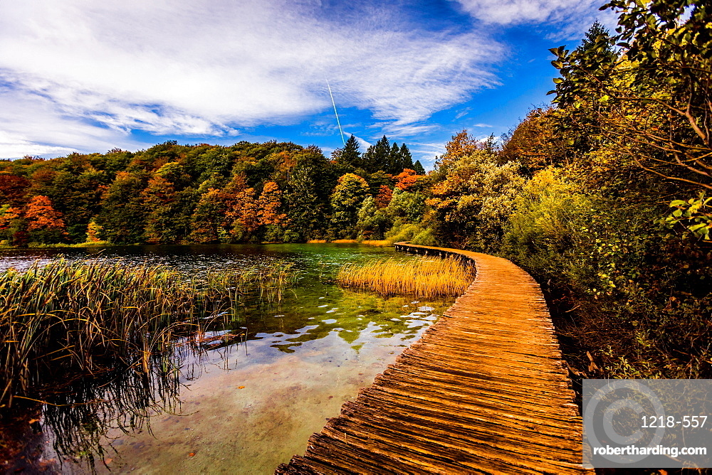 Scenic spot in Plitvice Lakes National Park, UNESCO World Heritage Site, Croatia, Europe
