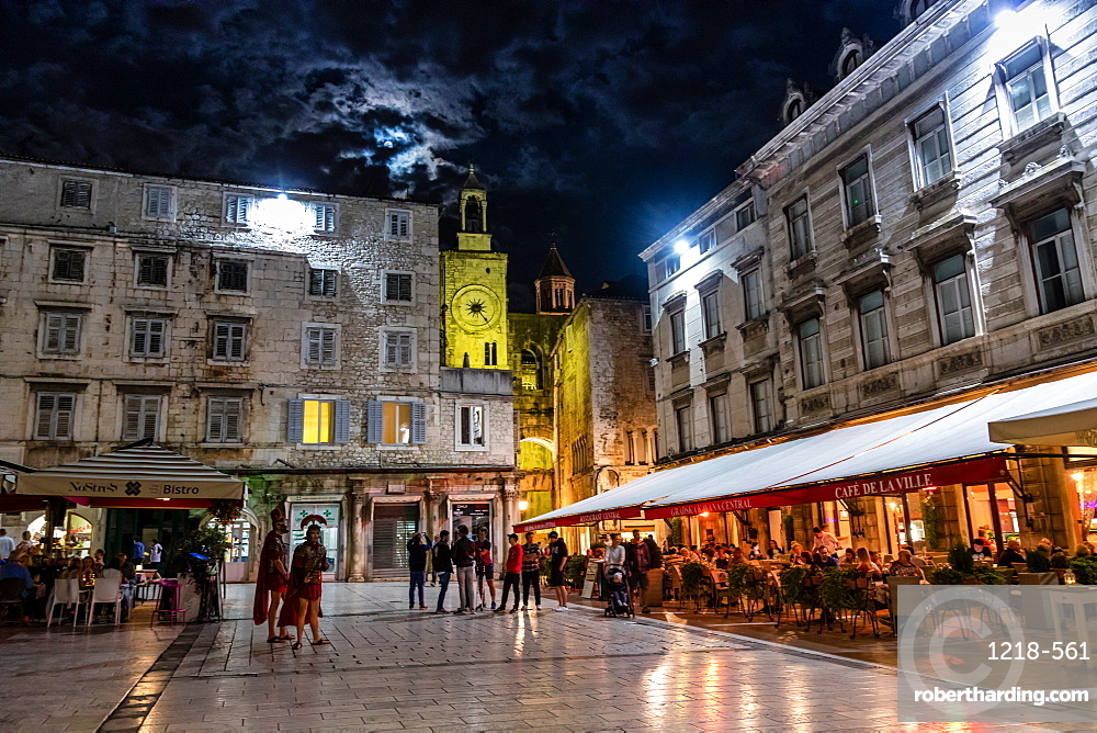 Nightlife in Split, Croatia, Europe