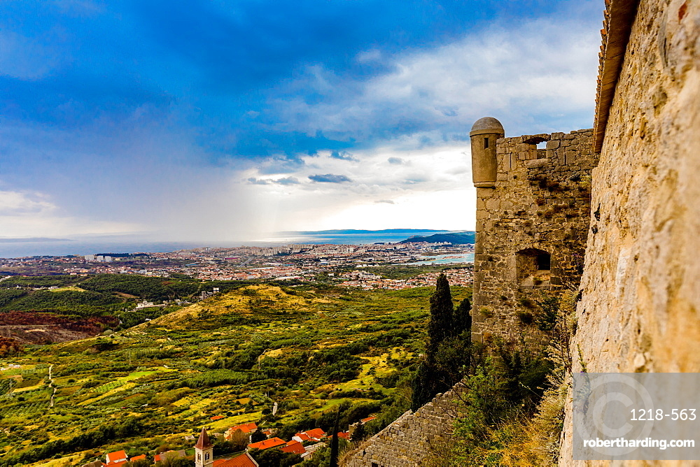 Views from the Fortress of Klis, where Game of Thrones was filmed, Croatia, Europe
