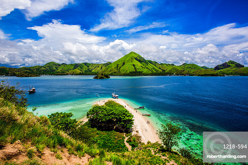 View from the top of Kelor Island, Indonesia, Southeast Asia, Asia