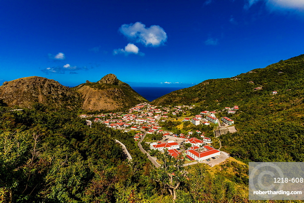 Scenery in Saba, a Caribbean island, the smallest special municipality of the Netherlands, Caribbean, Central America