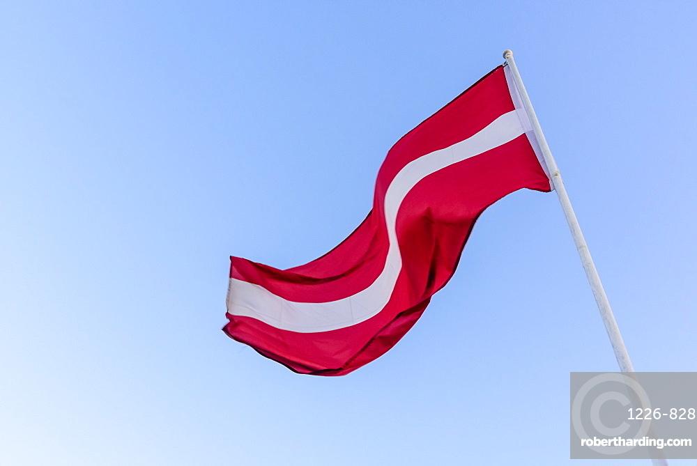 Latvian national flag, Riga, Latvia, Europe