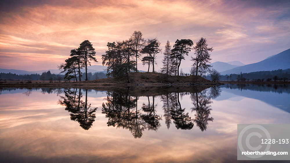 Sunset over Loch Tulla and Black Mount, The Central Highlands, Scotland.
