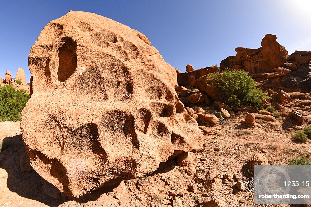 Stone formation around village of Tafraoute, Morocco, North Africa, Africa