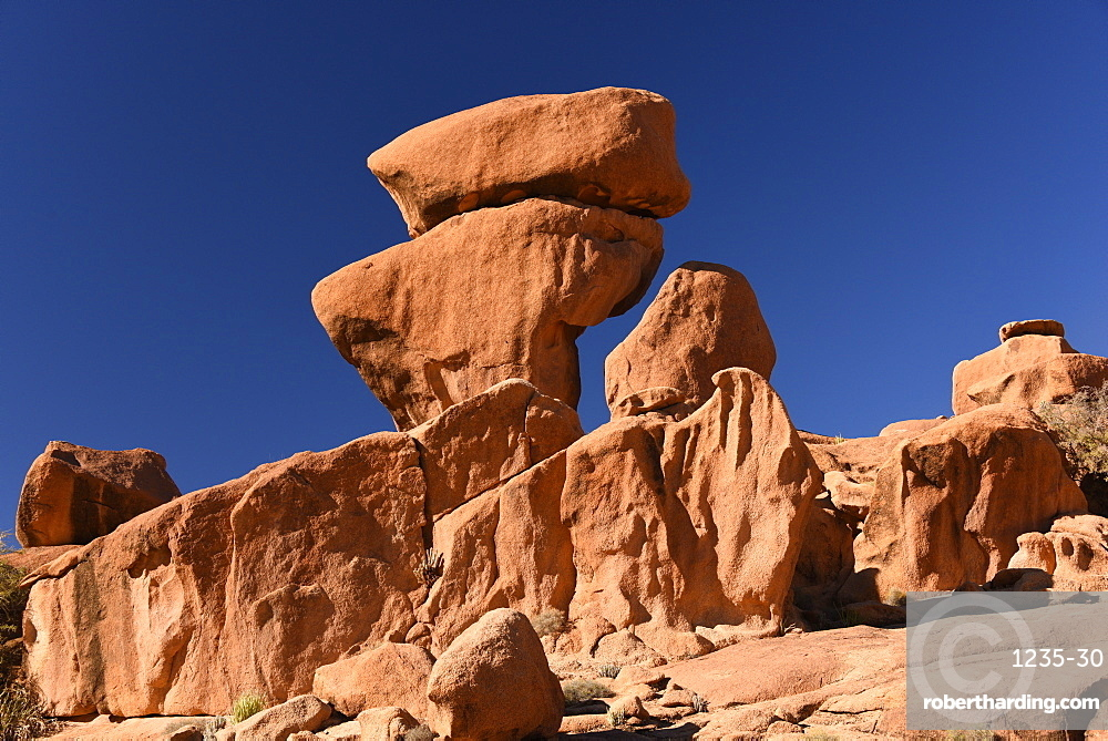 Rock formations around Tafraout, Morocco, North Africa, Africa