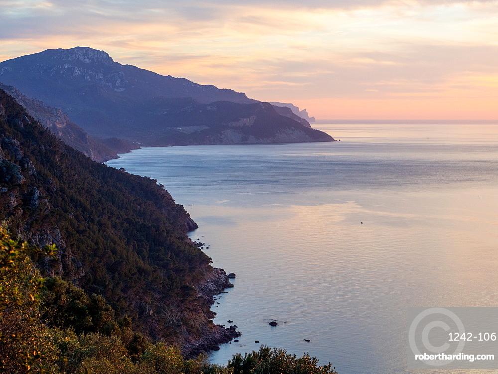 Coastline near Valdemossa, Mallorca, Balearic Islands, Spain, Mediterranean, Europe