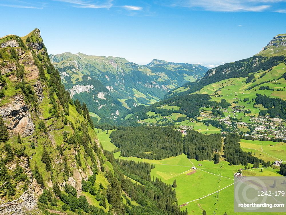 Mountain peak, Alps, near Engelberg, Switzerland, Europe