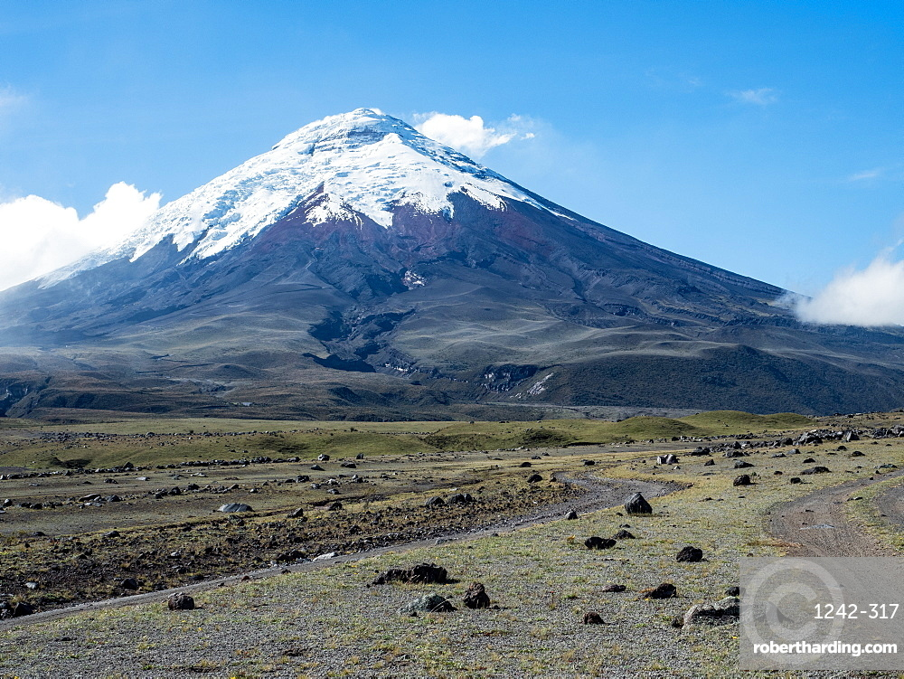 Rubble fields from Cotopaxi volcano, Cotopaxi National Park, Andes mountains, Ecuador, South America