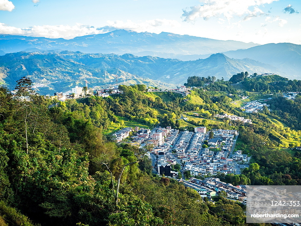 View out to the mountains, Manizales, Colombia, South America
