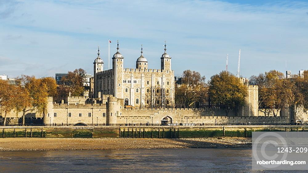 Panorama of Tower of London, UNESCO World Heritage Site, London, England, United Kingdom, Europe