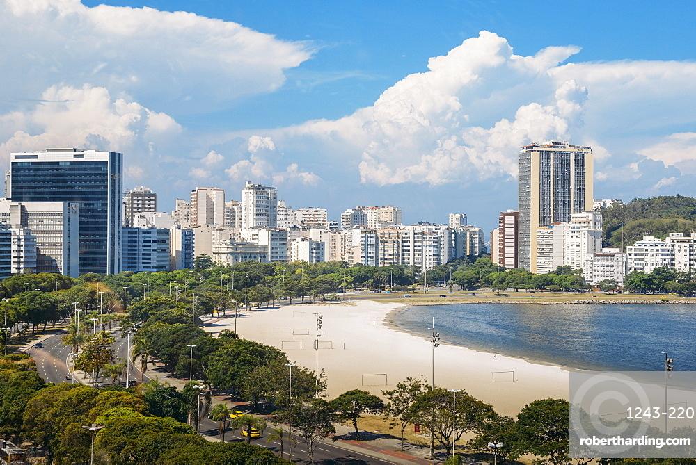 Aerial view of Botafogo Beach, Rio de Janeiro, Brazil, South America