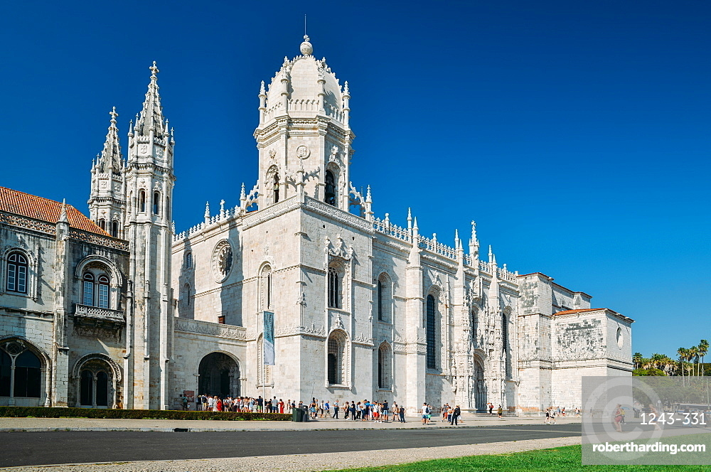 The Jeronimos Monastery (Hieronymites Monastery) a former monastery in Belem, UNESCO World Heritage Site, Belem, Lisbon Portugal, Europe