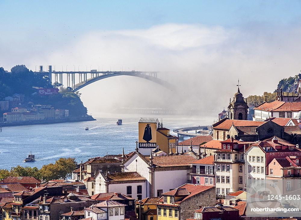 View towards Arrabida Bridge, Porto, Portugal, Europe