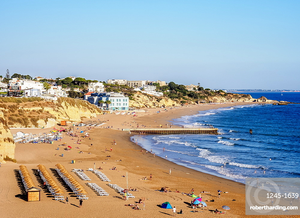 Paneco Beach, elevated view, Albufeira, Algarve, Portugal, Europe