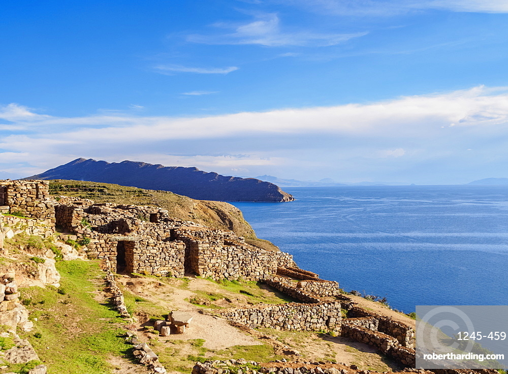Chinkana Ruins, Island of the Sun, Titicaca Lake, La Paz Department, Bolivia, South America