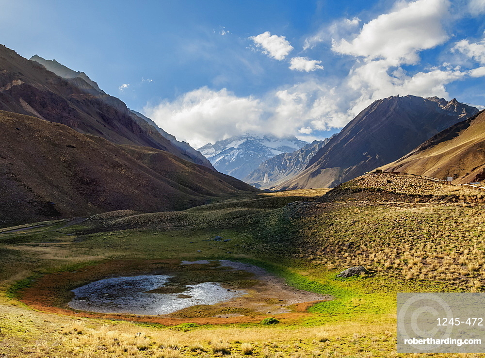 Aconcagua Mountain, Horcones Valley, Aconcagua Provincial Park, Central Andes, Mendoza Province, Argentina, South America