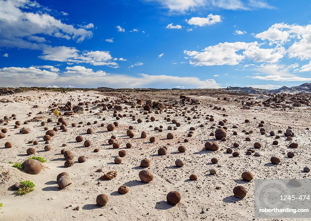 Cancha de bochas (Bowls Pitch) Formation, Ischigualasto Provincial Park, UNESCO World Heritage Site, San Juan Province, Argentina, South America