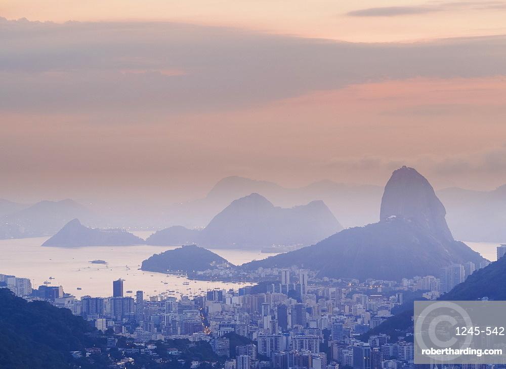 Sugarloaf Mountain at sunrise, Rio de Janeiro, Brazil, South America