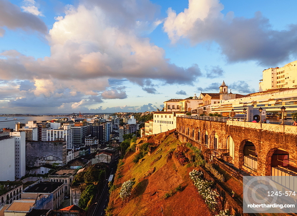 Old Town at sunset, Salvador, State of Bahia, Brazil, South America