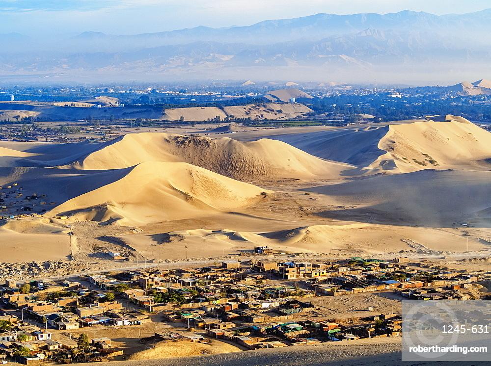 Sand dunes of Ica Desert near Huacachina, Ica Region, Peru, South America