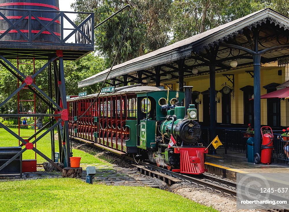 Train Station in Parque de la Amistad, Friendship Park, Santiago de Surco District, Lima, Peru