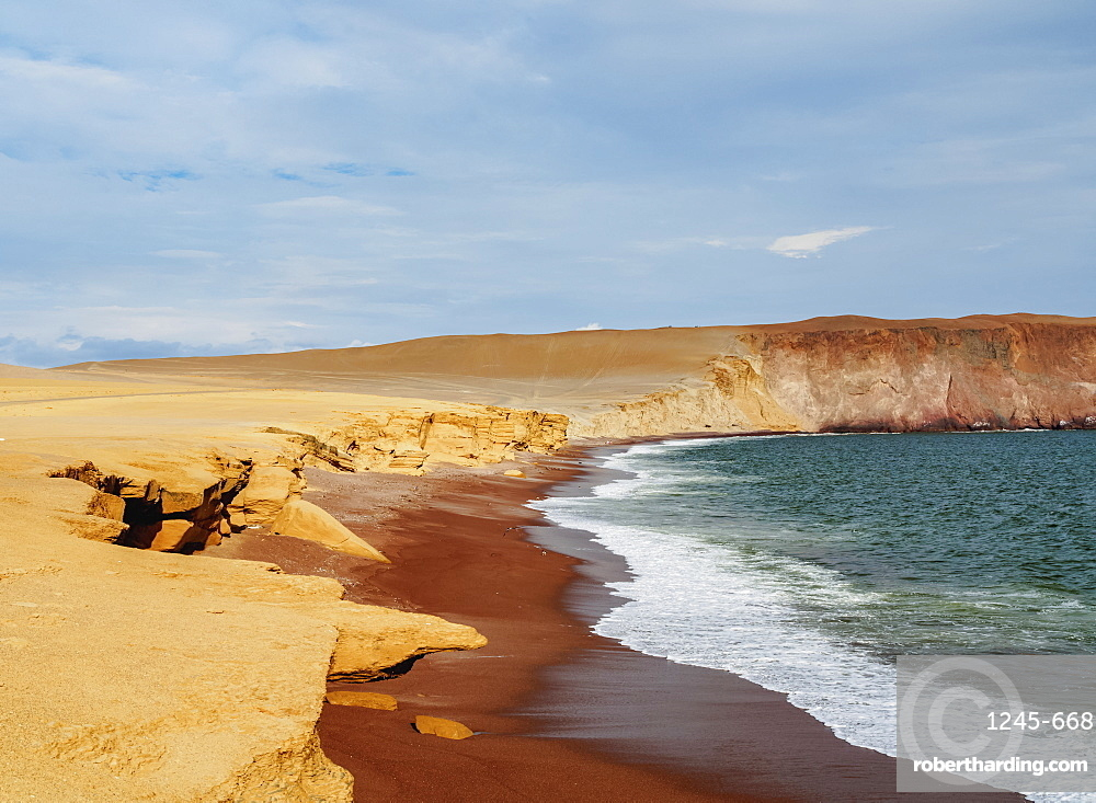 Red Beach, Paracas National Reserve, Ica Region, Peru, South America