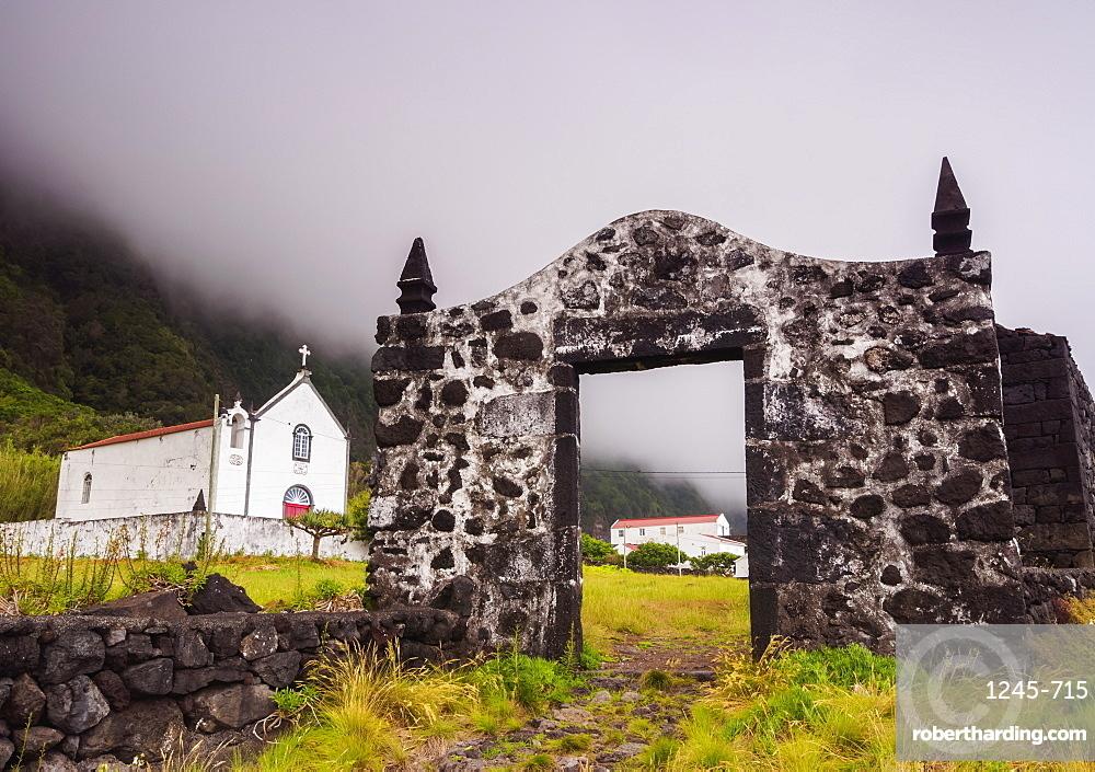 Chapel of Santo Cristo, Faja das Almas, Manadas, Sao Jorge Island, Azores, Portugal, Atlantic, Europe