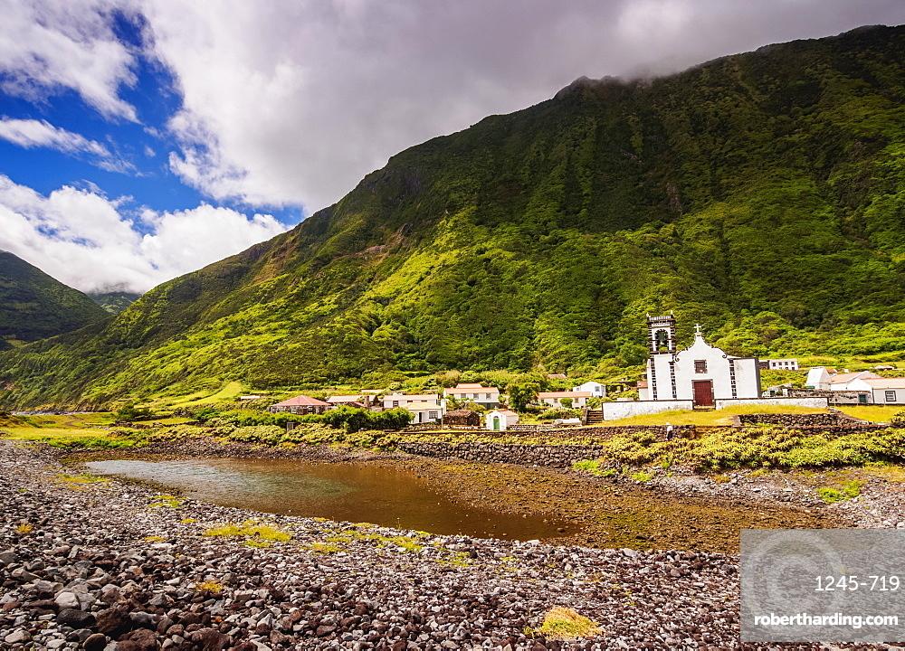 Church in Faja da Caldeira de Santo Cristo, Sao Jorge Island, Azores, Portugal, Atlantic, Europe