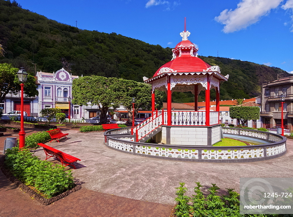 Bandstand in Jardim da Republica, Velas, Sao Jorge Island, Azores, Portugal, Atlantic, Europe