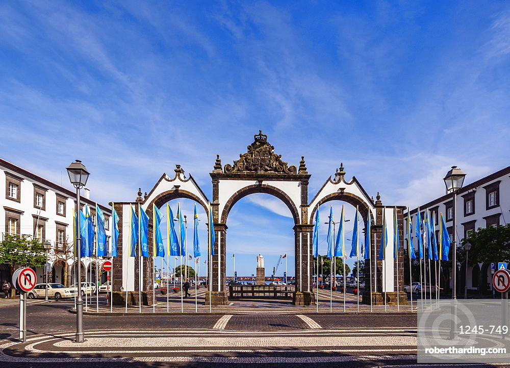 City Gates, Ponta Delgada, Sao Miguel Island, Azores, Portugal, Atlantic, Europe