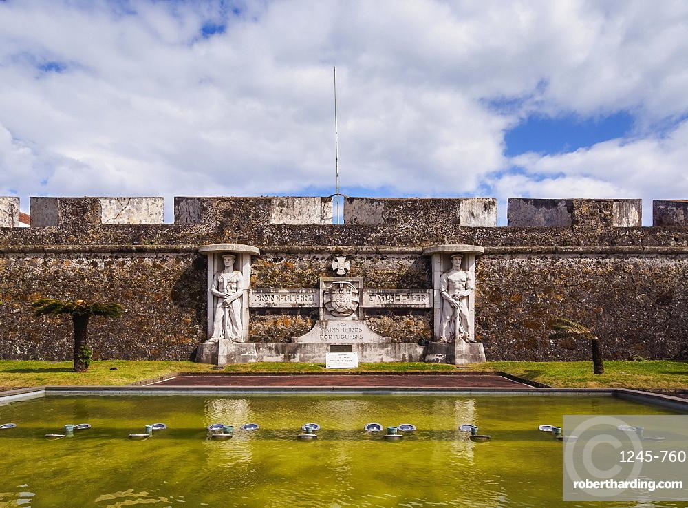 Sao Bras Fort, Ponta Delgada, Sao Miguel Island, Azores, Portugal, Atlantic, Europe