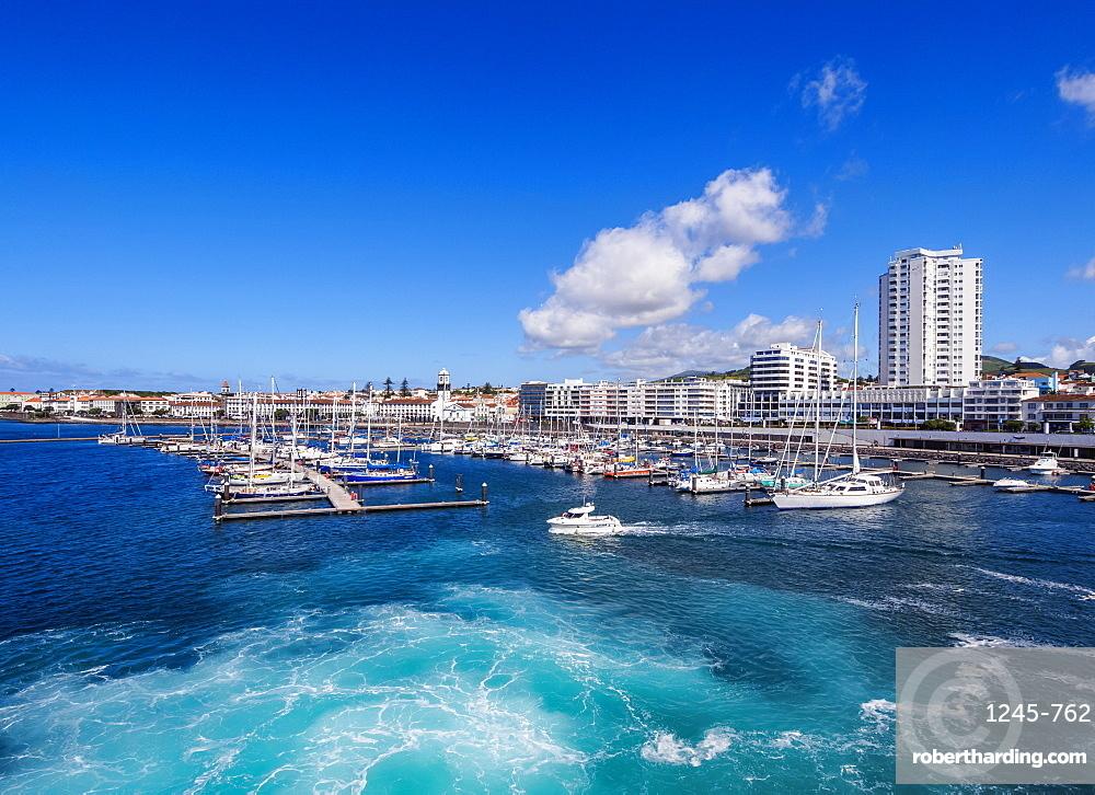 Port in Ponta Delgada, Sao Miguel Island, Azores, Portugal, Atlantic, Europe