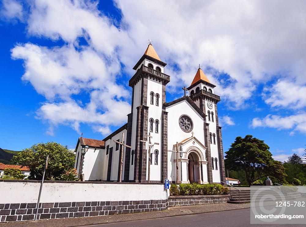 Church of Nossa Senhora da Alegria, Furnas, Sao Miguel Island, Azores, Portugal
