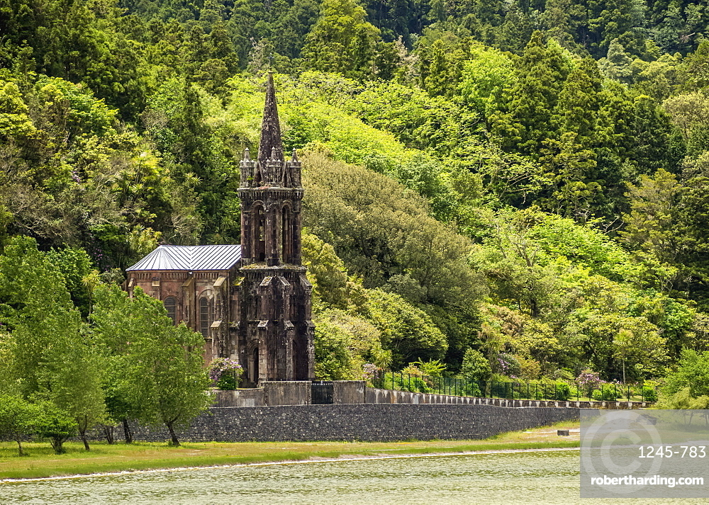 Chapel of Nossa Senhora das Vitorias by the Lagoa das Furnas, Sao Miguel Island, Azores, Portugal