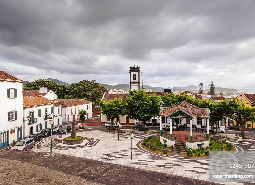 Main Square, elevated view, Ribeira Grande, Sao Miguel Island, Azores, Portugal
