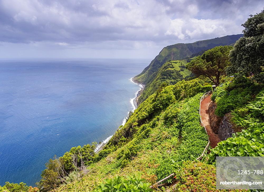Miradouro da Ponta do Sossego, garden and view point, Sao Miguel Island, Azores, Portugal